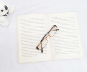 book, books, and glass image