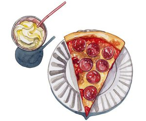 pizza, food, and art image
