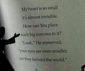 eyes, heart, and sorrow image
