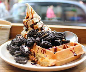 food, oreo, and waffles image