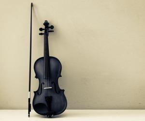 violin, black, and music image