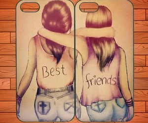 best friends, girls, and covers image