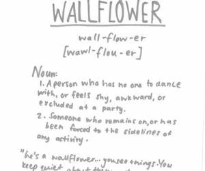wallflower, quote, and text image