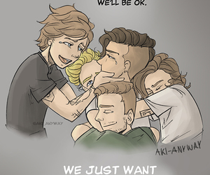 crying, fanart, and 1d image