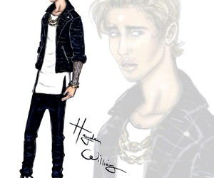 justin bieber, hayden williams, and drawing image
