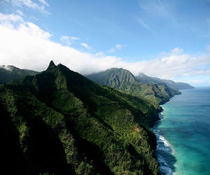 ocean, mountain, and nature image