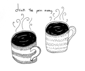coffee, pain, and drink image
