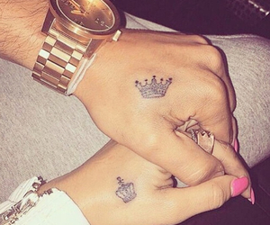 king, Tattoos, and Queen image