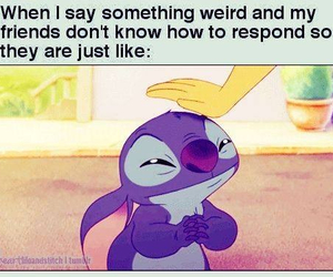 friends, funny, and stitch image