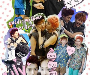 luhan, xiumin, and Collage image