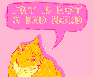 cat, true, and fat image