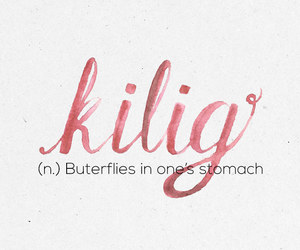 butterfly, words, and kilig image