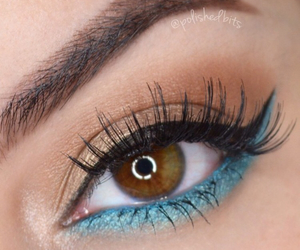 blue, couples, and eye makeup image