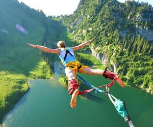 adventure and bungee jumping image