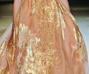 evening gown, gold, and gorgeous image