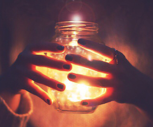 light, candle, and jar image