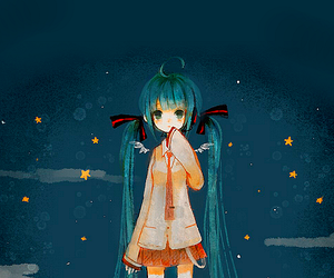 anime, cute, and stars image