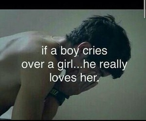 love, boy, and cry image