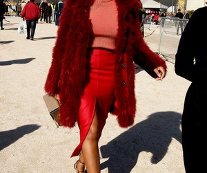 solange, fashion, and red image