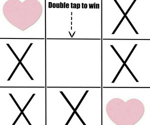heart, tic tac toe, and funny. image