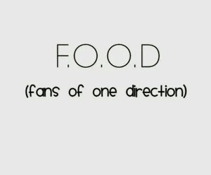 one direction, food, and fans image