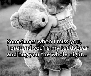 hug, teddybear, and love image