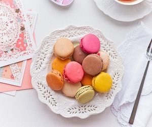 macarons, red, and pink image