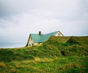 green and house image