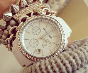 watch, Michael Kors, and bracelet image