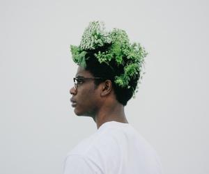 art, blackout, and guy image