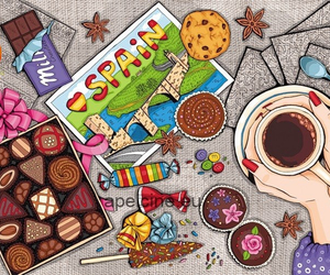 spain, chocolate, and candy image