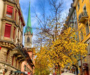 city, switzerland, and light image
