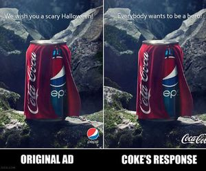 coca cola, funny, and Pepsi image