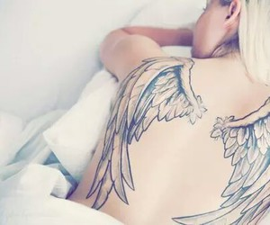 angel, tattoo, and fly image