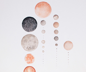art, moon, and planets image
