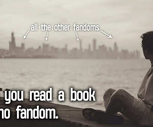 fandom, books, and funny image