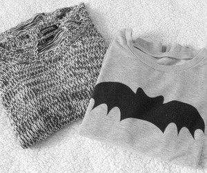 fashion, sweater, and batman image