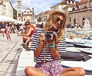 girl, summer, and camera image