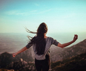 girl, free, and nature image