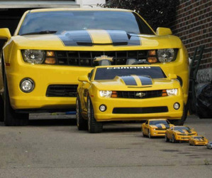 car, camaro, and yellow image