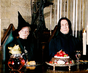 harry potter, snape, and bitch please faces image