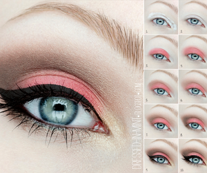 eye makeup, make-up, and makeup image