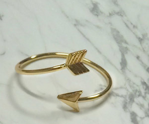 ring, gold, and cute image