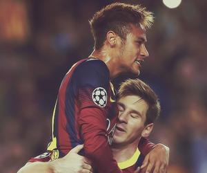 neymar, messi, and Barcelona image