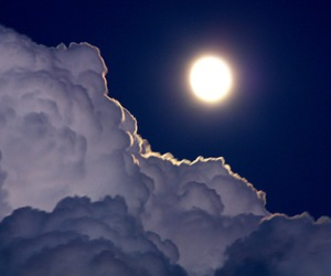 clouds, photography, and moon image