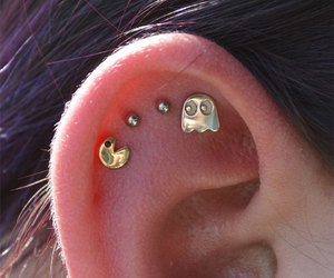 ear, earrings, and funny image