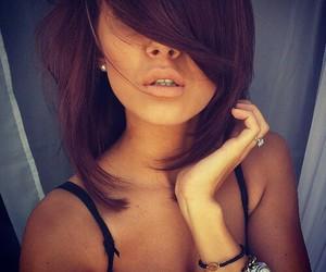 bangs, make up, and girl image