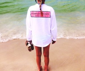 beach, summer, and vineyard vines image
