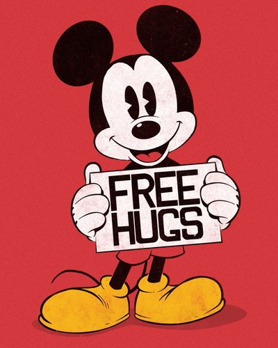 disney, hug, and mickey image