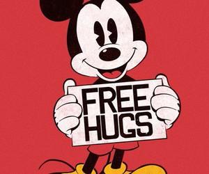 disney, hug, and mickey image